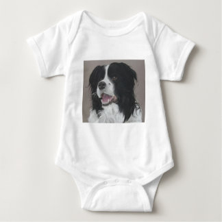 Border Collie 3 Baby Bodysuit