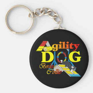 Border Collie Agility Gifts Key Ring