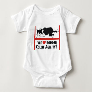 Border Collie Aglity Love Baby Bodysuit