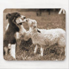 """Border Collie and Lamb""~Mousepad Mouse Mat"