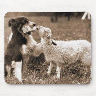 """Border Collie and Lamb""~Mousepad Mouse Mat"