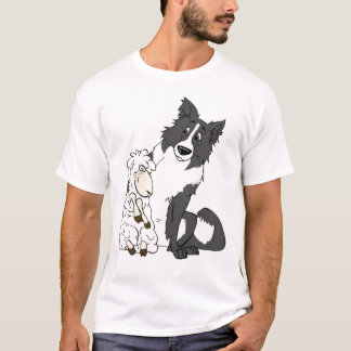 Border Collie and Sheep Tee
