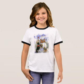 Border Collie and Snowman T-Shirt