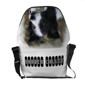 Border Collie Art Commuter Bags