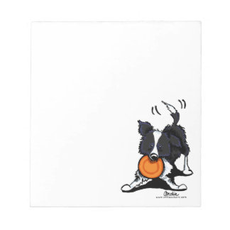 Border Collie at Play Notepad