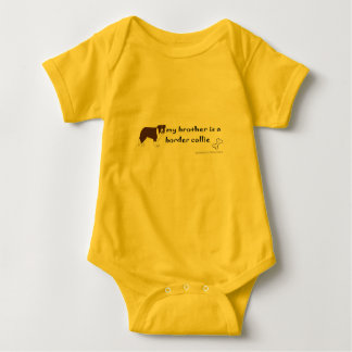border collie baby bodysuit