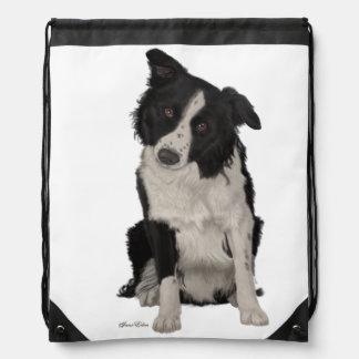 Border Collie Back Pack Bag Drawstring Bags