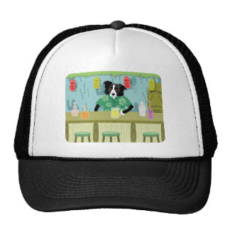 Border Collie Bamboo Tiki Bar Cap