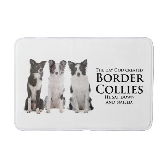 Border Collie Bath Mat Bath Mats