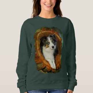 Border Collie Blue Merle Dog Animal Funny  classic Sweatshirt