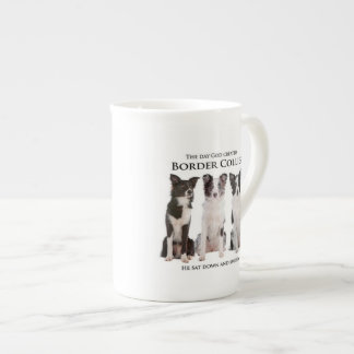 Border Collie Bone China Mug