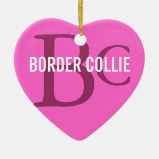 Border Collie Breed Monogram Christmas Ornament