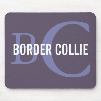 Border Collie Breed Monogram Design Mouse Pad