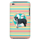Border Collie; Bright Rainbow Stripes Barely There iPod Cover