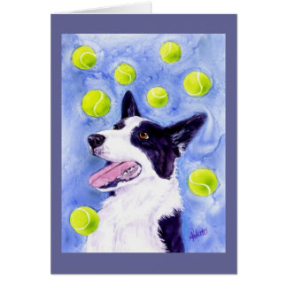 """Border Collie Card - """"Magpie's Gold"""""""