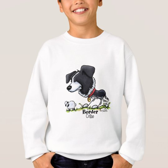 Border Collie Cartoon Sweatshirt