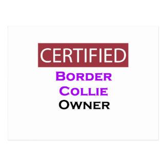 Border Collie Certified Owner Postcard