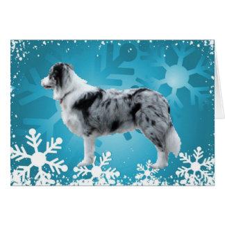 Border Collie Christmas Card