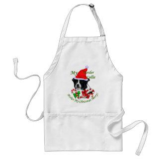Border Collie Christmas Gifts Standard Apron