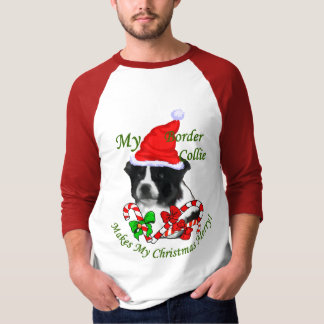 Border Collie Christmas Gifts T-Shirt