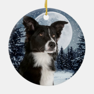 Border Collie Christmas Ornament
