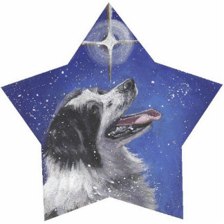 border collie Christmas Ornament Photo Sculpture Decoration