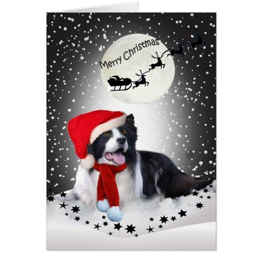 Border Collie Christmas Sharing Card