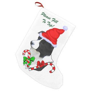 Border Collie Christmas Small Christmas Stocking