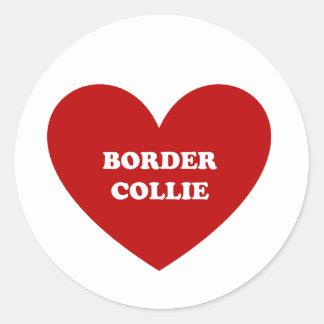 Border Collie Classic Round Sticker