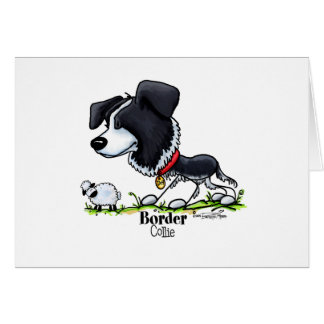 Border Collie - Color Greeting Card