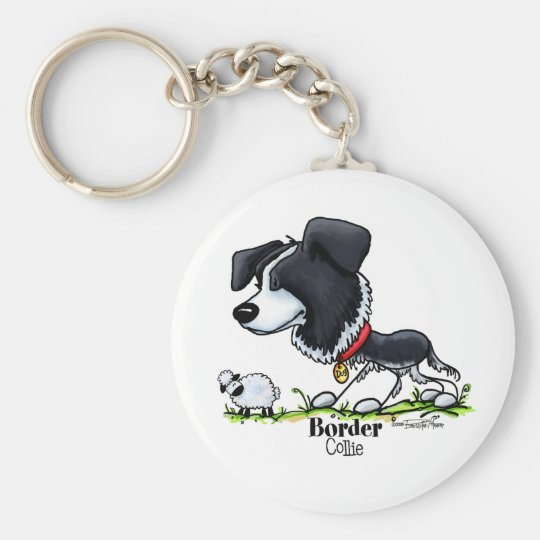 Border Collie - Colour Key Ring