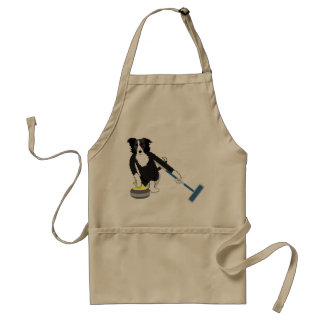 Border Collie Curling Aprons