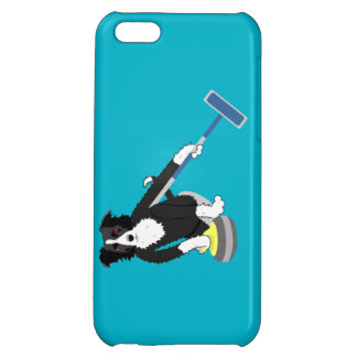 Border Collie Curling iPhone 5C Covers