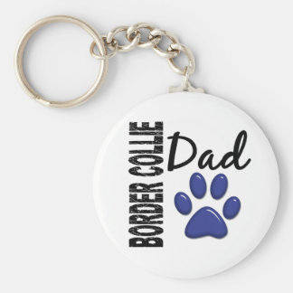 Border Collie Dad 2 Key Ring