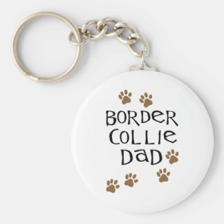 Border Collie Dad Key Ring