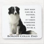 Border Collie Dad Mousepad