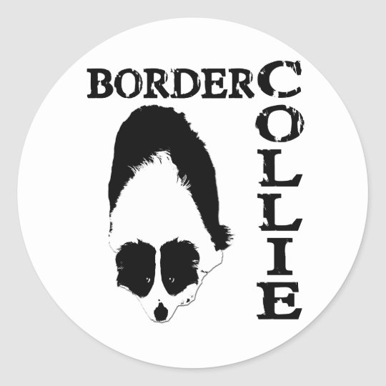 Border Collie Deep Thoughts Classic Round Sticker