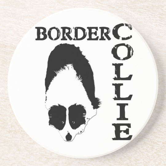 Border Collie Deep Thoughts Coaster