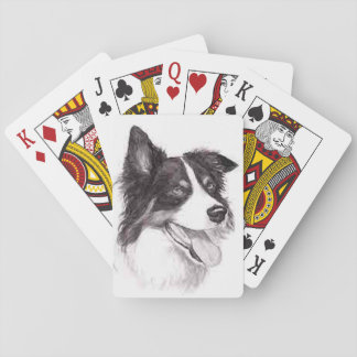 Border Collie Dog Art Playing Cards