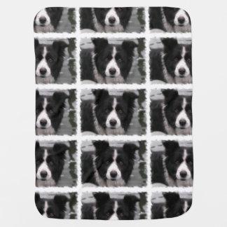 Border Collie Dog Baby Blanket