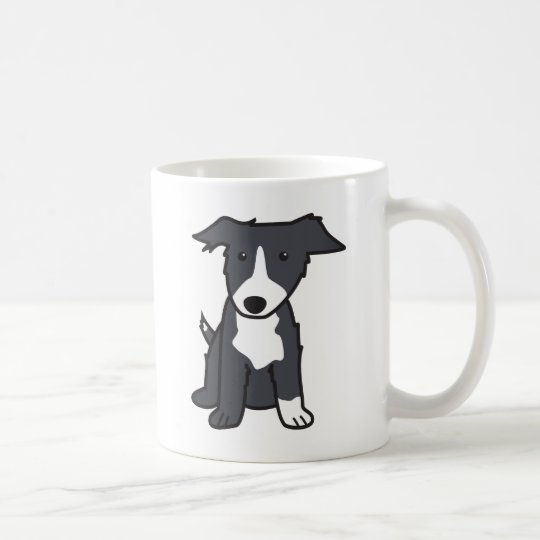Border Collie Dog Breed Cartoon Mug