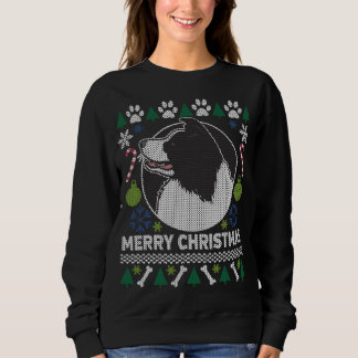 Border Collie Dog Breed Ugly Christmas Sweater