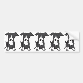 Border Collie Dog Cartoon Bumper Sticker