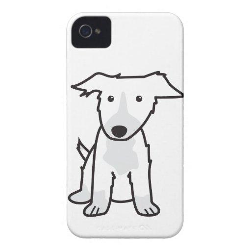 Border Collie Dog Cartoon iPhone 4 Cover