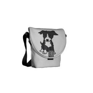 Border Collie Dog Cartoon Commuter Bag
