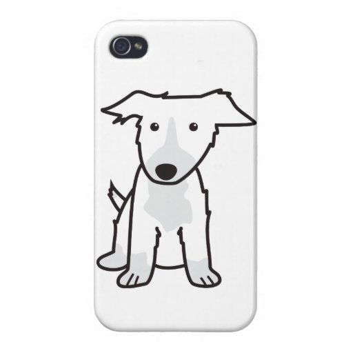 Border Collie Dog Cartoon iPhone 4/4S Covers
