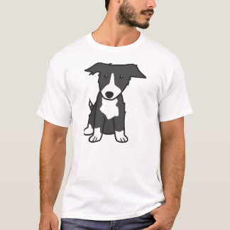 Border Collie Dog Cartoon T-Shirt