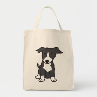 Border Collie Dog Cartoon Tote Bag