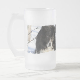 Border Collie Dog  Frosted Mug