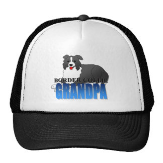 Border Collie Dog Grandpa Cap